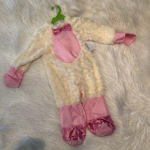 Pretty pink lamb baby costume (M)